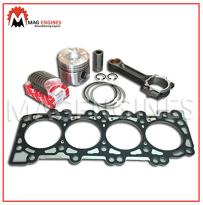 Piston With Ring+Conrod+Bearings+Head Gasket Nissan Yd25 For D22 Navara 00-06