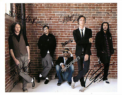 """INCUBUS  SIGNED 8""""X10"""" PHOTO RP"""