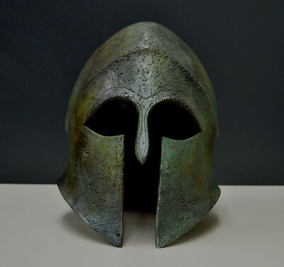 Ancient Greek Helmet solid Bronze aged artifact collectible