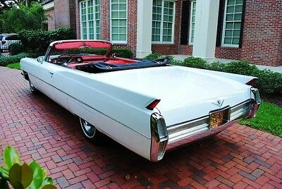 1964 Cadillac DEVILLE Convertible, White, Refrigerator Magnet, 40 MIL