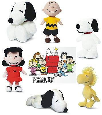 Official Peanuts Snoopy Beagle Dog Belle Charlie Brown Lucy Pilot Soft Toys