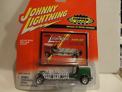 Johnny Lightning The Lost Toppers Green Flame Out