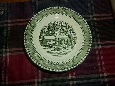 Country Life 2 bread/butter  plates 3 saucers Currier and Ives by Knowles