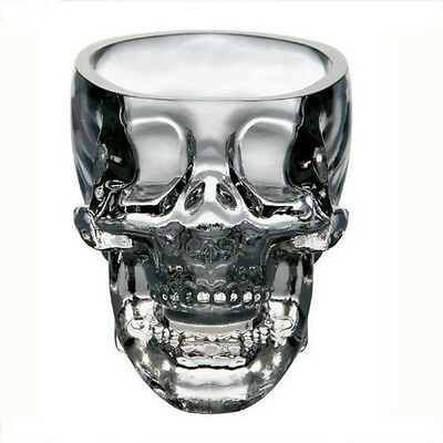 Crystal Skull Head Vodka Whiskey Shot Glass Cup Drinking Ware Home Bar 73 ml