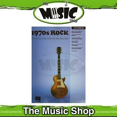 New 1970s Rock Music Book for Easy Guitar with Notes & Tablature