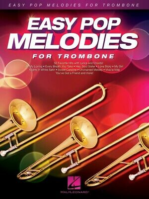 New Easy Pop Melodies for Trombone Music Book - Beginners Songbook