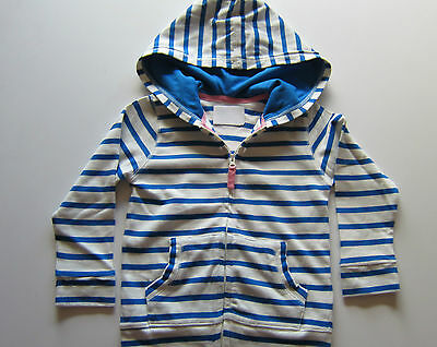 Boden Cotton Stripe Zip Up Hoodie Blue- Coral- Grey/Yellow  Ages 1-12   Bnwot
