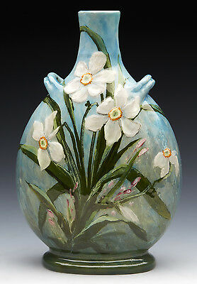 STUNNING & RARE ANTIQUE SEVRES FLORAL DECORATED VASE BY CLEMENT MASSIER 19TH C.