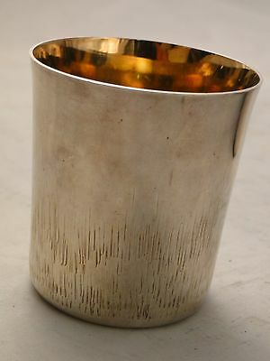 Silver Plated Beaker, Simply Engraved, Small Size, Great Quality, Fully Marked