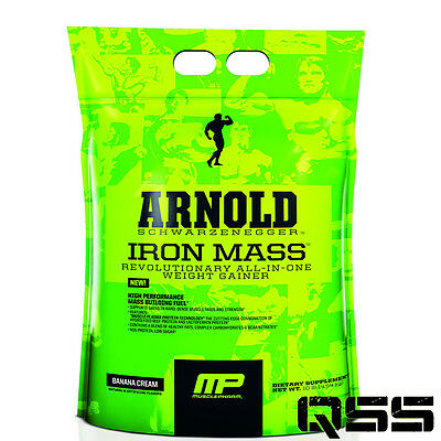 MUSCLEPHARM ARNOLD SCHWARZENEGGER IRON MASS 10lb/4.5kg WEIGHT GAINER ALL-IN-ONE