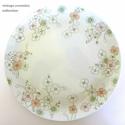 2 Beautifully Designed Vintage ARZBERG Dinner Plates White Pastel Pink Green