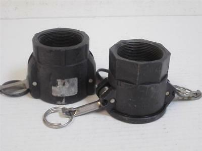 "**Set of 2**   2"" Poly Type D Female Camlock Coupler x Female Threaded NPT"