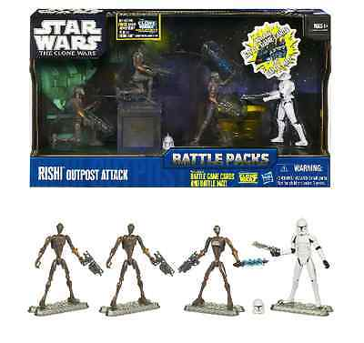 STAR WARS THE CLONE WARS BATTLE PACK- Rishi Outpost Attack- VERY RARE NEW MISB