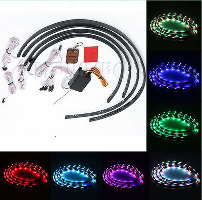 7 Color LED Strip Under Car Tube underglow Underbody System Neon Lights Kit  —US