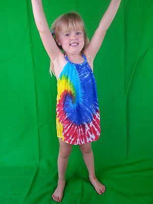 Gorgeous Tie Dye Summer Dress FREE POSTAGE Aust Girls Size 2-4 10-12