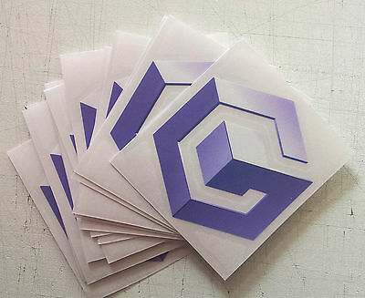 NINTENDO GameCube logo STICKER only - NO GAME or CONSOLE