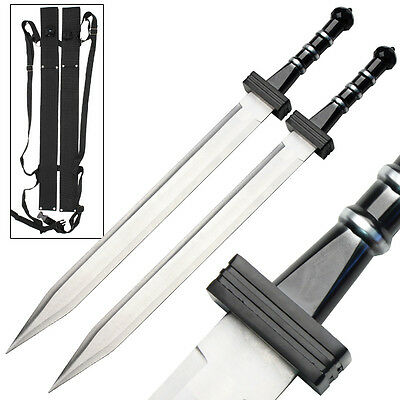 Deadly Roman Gladiator Combat Greek Gladius Twin Sword Set Replica Collectible