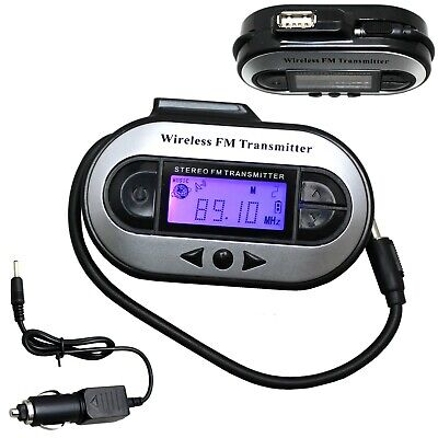 Wireless FM Transmitter Stereo for 3.5mm Jack Plug iPod, iPhone, MP3 & More