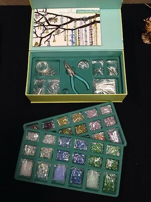 Learn to Bead Earrings, Necklace, Bracelet NWT QVC Beading Kit was $49 Pastel
