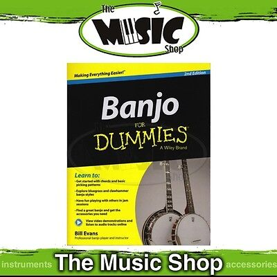 New Banjo for Dummies Music Tuition Book - 2nd Edition
