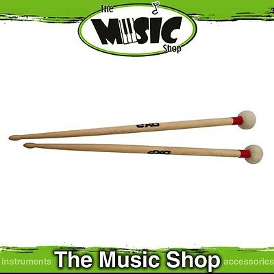 New Pair of DXP Double Ended Timpani & Cymbal Mallets - Felt Head - DBT210