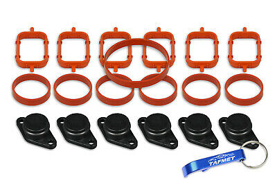 6 x 22 mm Swirl Flap Flaps Replacement Blanks Manifold Gaskets for BMW M57