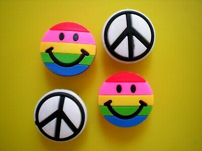 Garden Beach Clog Shoe Plug Charm Smile Face Peace Sign Fit Bracelet Accessories