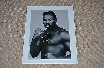 LENNOX LEWIS signed Autogramm In Person 20x25 cm  WELTMEISTER , OLYMPIA GOLD