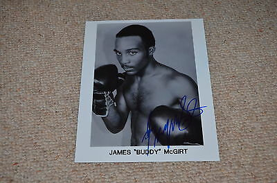 BUDDY MCGIRT signed Autogramm In Person 20x25 cm WELTMEISTER Welter