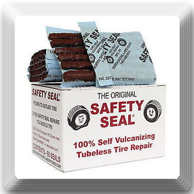 """1 Box of 60 plugs. Safety Seal Tire Plugs tire repair brown, 4"""" Safety Seal *USA"""