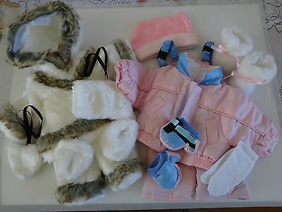 "NEW-DOLL ESKIMO & SKI Sets [2] Lot #76 fit 18"" Dolls such as American Girl Doll"