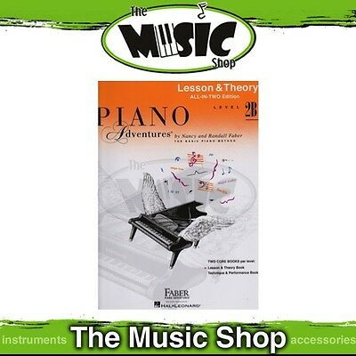 New Piano Adventures Lesson & Theory Level 2B Music Tuition Book - All-In-Two