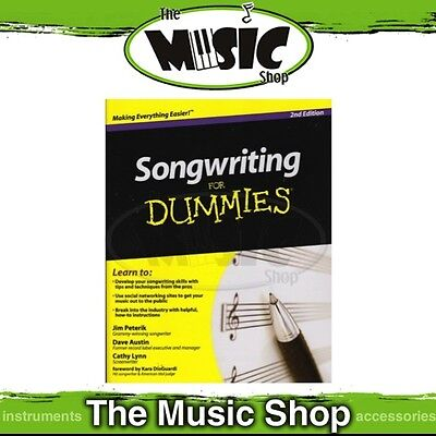 New Songwriting for Dummies Music Tuition Book - 2nd Edition