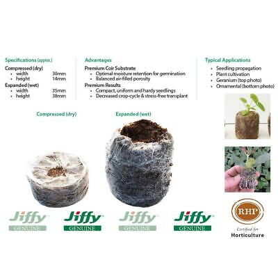 "Coir Pellets ""35mm Jiffy-7"". Ideal for seedling & cutting propagation. Free P&H."