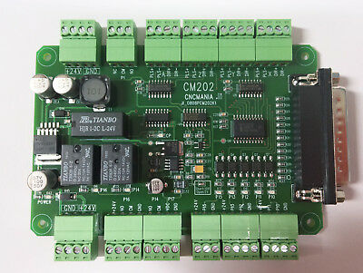 New Cnc Breakout Board Mach3 CM-201 Parallel Connection Interface Board.