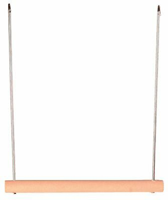 Swinging Trapeze Wooden Bird Swing Bird Cage Perch in 2 Sizes