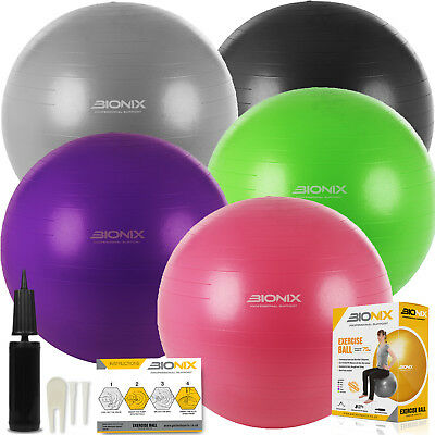 Anti Burst Gym Ball 75cm Exercise Swiss Pregnancy Fitness Birthing Yoga Gym Pump