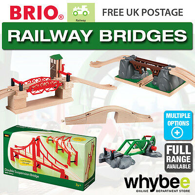 BRIO Railway Bridge Full Range of Wooden Train Bridges Children Kids 1yr+