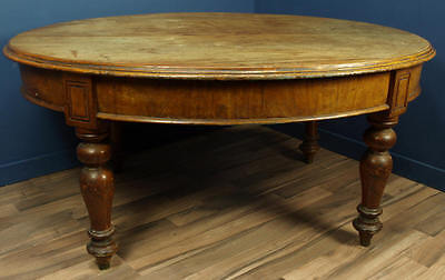 ANTIQUE VICTORIAN MAHOGANY OVAL CENTRE TABLE CIRCA 1860 DINING TABLE
