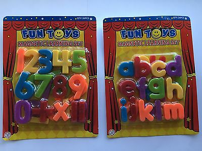 Kids Childrens Magnetic Numbers And  Letters Learning Set Toy Fridge Magnets