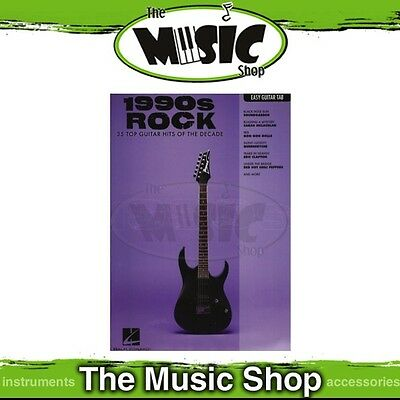 New 1990s Rock Music Book for Easy Guitar with Notes & Tablature