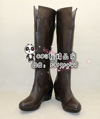 The Hobbit 2: The Desolation of Smaug Thranduil Brown Cosplay Shoes Boots X002