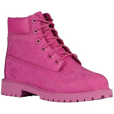 TIMBERLAND 6 IN PREMIUM WATERPROOF boots pink Girls A148W678 cancer breast 4c-7y