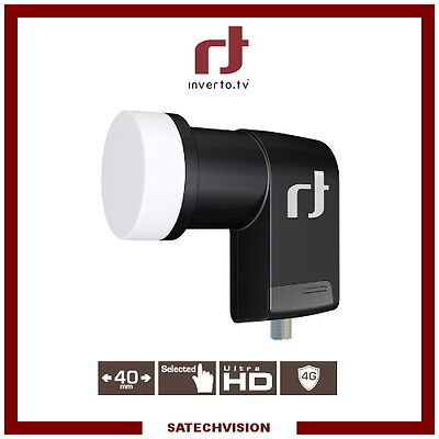 LNB Single Inverto Black Premium 0.2 dB Gain 65 dB Tête 1 Sortie Full HD 3D UHD