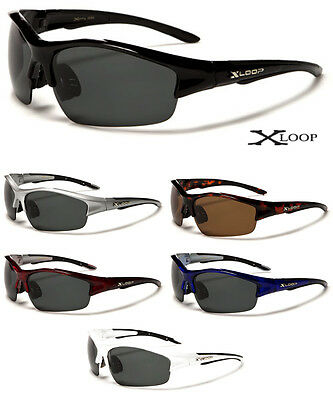 X-Loop Sport Cycling Fishing Golf Sunglasses Mens Wrap Around Polarized Baseball