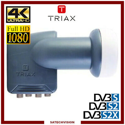 LNB Quattro Pour Multiswitch Triax TQT 007 0,3 dB Gain 64 dB Full HD 3D Ready