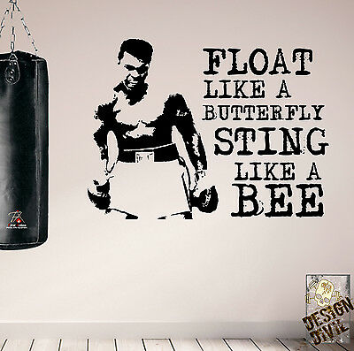 Pro Design Muhammad Ali Motivational Wall Decals Gym Home Boxing Fitness Quality