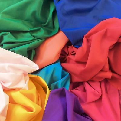 """Cotton Polyester Broadcloth Fabric Apparel 45"""" Solid Per Yard"""
