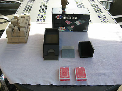 Excalibur Professional 4 Deck Dealer Shoe~2 Decks Included~Unused In Opened Box!