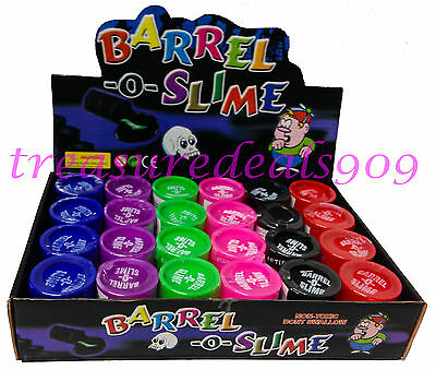 24 pcs Barrel O Slime Prank Trick Party Favors Joke Gag Of Toys Birthday Play